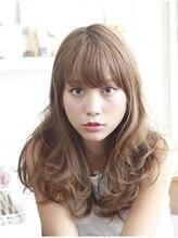 レンカ ヘアアンドビューティー(renca hair&beauty)大人かわいいベージュカラーセミロング☆