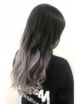 ヘアーサロン エール 原宿(hair salon ailes)(ailes原宿)style437 バイオレットシルバーグラデーション