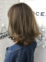 [OCEAN Hair&Life]切りっぱなし×バレイヤージュグラデーション