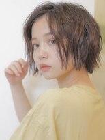 アグ ヘアー リノ 大名店(Agu hair reno)《Agu hair》無造作ウェットボブ
