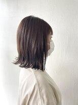 サラ ビューティー サイト 古賀店(SARA Beauty Sight)ぷつっとボブ×ベージュ