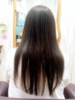 美容室デラリンクルの写真/【話題のBeOneシステム使用!】縮毛による熱ダメージを軽減しまとまりの良いナチュラルなストレートを実現◎