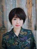 美容室パイナップル犬塚店アシメ前髪マッシュボブ