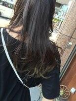 毛先のポイントグラーデーションカラー