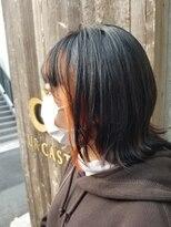ユーアールキャッスル(UR CASTLE)インナーカラーオレンジ フレーミングカラー