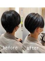 リベラル(liberal)國分オリジナル髪質改善縮毛矯正ビフォーアフター5 【箕面】