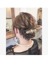 【☆】結婚式ルーズシニヨンアレンジ ノットヘア