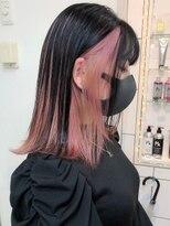 シャチュー(SHACHU)ブラック×ピンクインナーカラー