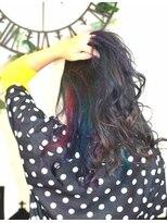 ヘアーサロン エール 原宿(hair salon ailes)(ailes 原宿)style400 レインボー☆フェザーロング