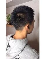 短髪 ビジカジ 1分スタイリング 刈り上げ ネープレス
