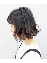 エイム ヘアメイク 横川店(eim HAIR MAKE)インナーベージュ × 切りっぱなしボブ