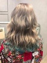 ジーナ(XENA)裾カラー ライトブルー