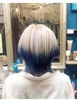 ロコマーケット 下北沢店(hair meke Deco.Tokyo)ブルーグラデーションカラー