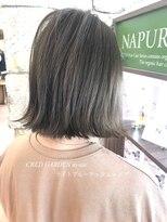 クレドガーデン 綾瀬店(CRED GARDEN)ライトブルーアッシュ × ボブ