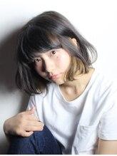 アズーラ 本山(AZURA)【AZURA】アゴラインボブのインナーカラー