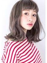 ヘアサロン ガリカ 表参道(hair salon Gallica)『 グレージュ & 毛束感 』 オン眉ミディアム ☆デザインカラー