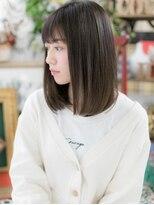 黒髪ワンカールロブ小顔シースルーバングb戸田公園10代20代30代!