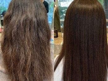 リラ バイ コスト(Lilas by costes)の写真/上質で、扱いやすい艶髪へ─。《Lilas by costes》のダメージレス縮毛矯正でナチュラルな美ストレートに♪