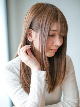 アース 静岡清水店(HAIR&MAKE EARTH)の写真/真っ直ぐすぎないナチュラルストレートが叶うのは、薬剤にこだわっているから!理想の艶さらストレートへ…