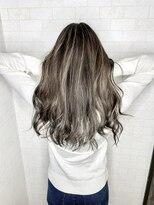アルマヘア(Alma hair)アッシュブラウン☆ホワイトアッシュハイライト