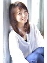 柔らかな艶髪ストレートカールスタイル【nanana parena】