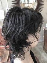 アレーン ヘアデザイン(Alaine hair design)【NAOMI】カーリーウルフ×ブルーブラックカラー ネオウルフ