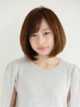 アース 船橋店(HAIR&MAKE EARTH)ツヤ髮ワンレンボブ【EARTH 船橋店】