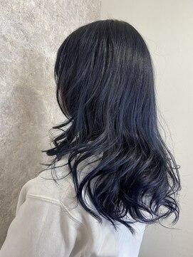 シュガービー(SUGAR-B)【SUGAR-B】暗髪色+透明感ネイビーブルー