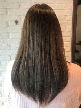 アメイ(A_mei)の写真/[山越]今もこれからも綺麗な髪でいるために-。髪に優しく退色しにくい【ロング料金なしカラー¥4500】