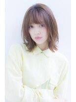 ラフ フロム ガーデン(Laf from GARDEN)【寺尾拓巳】大人かわいいシアーベージュイルミナカラーミディ