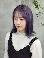テトヘアー(teto hair)韓国 韓国ヘア シースルーバング ラベンダー 紫 タンバル