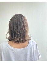 ヘアメイク オブジェ(hair make objet)ハイトーンベージュ ボブ