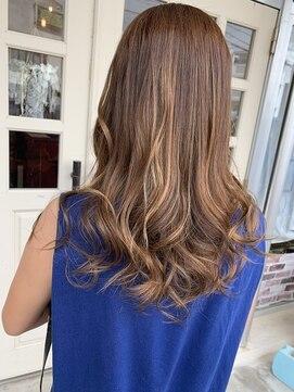 ヘアアンドメイクグラチア(HAIR and MAKE GRATIAE)ベビーオレンジカラー