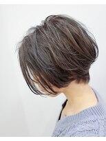 エイム ヘアメイク 横川店(eim HAIR MAKE)ハンサムショート×グレーアッシュ