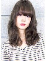 ヘアサロン ガリカ 表参道(hair salon Gallica)『 グレージュ 』×『 クセ毛風 』☆ 小顔ワンカールセミロング