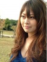 ジェンテ ヘアサプライ(GENTE hair&supply)イエローアッシュ系グラデーションカラー&ふわふわパーマ