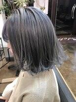 コレット ヘアー 大通(Colette hair)ホワイトグレー×インナーバイオレット