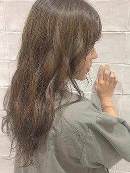 ラッシュ(rush)の写真/【永和 布施】アディクシーカラーで透明感★ハイライト&オーガニックカラー&髪質改善オージュアも◎