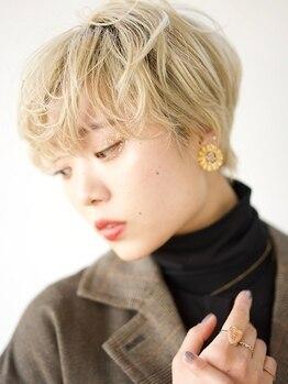 ヘアメイク エイト キリシマ(hair make No.8 kirishima)の写真/ハイライト/外国人風も狙い通りの仕上がりに。カラバリ豊富なので【白髪染めでもデザインカラー】が叶う♪