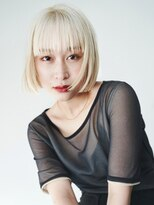 ヘアサロン ガリカ 表参道(hair salon Gallica)《SAKI》ホワイトベージュ☆ ワンカールで決まる切りっぱなしbob