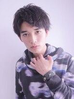 アルバム シンジュク(ALBUM SHINJUKU)七三オールバックツイストパーマコンマヘア_24867