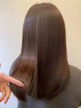 """ノーブル(noubl)の写真/ハマる人が続出な理由は""""即実感""""!SNSで話題の『酸熱トリートメント』回数を重ねる度キレイな髪に。"""