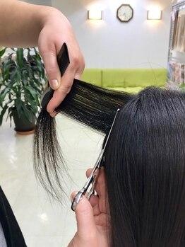 ヘアーサロン エルム(elm)の写真/髪の量が多い、髪が広がる…などのお悩みも髪の長さに関係なく「フレンチカットグラン」が解決◎