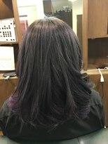 ヘアーメイク プリュム(Hair make Plume)グレーカラー×カラフルインナーカラー