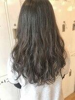 黒髪×イメチェンエアウェーブ毛先パーマ
