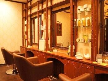 美容室 エルミタージュ(Hermitage)の写真/【3席×2名】扉を開けると広がるラグジュアリーな空間◇知る人ぞ知る江南区の隠れ家サロンで癒しのひと時を