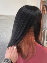 アトリエ リアン(atelier Lian)【お客様スタイル】インナーカラー オレンジ