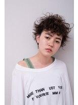 ミンクス 原宿店(MINX)厚めバング×大人のマッシュウルフ×小顔ショートスタイル