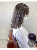 【viewt hair】シャドウルーツ × グレージュ 福山市