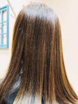 ウニカヘアデザイン(UNIkA HAIR design)の写真/【スチーム使用の贅沢ケア】髪本来の美しさを取り戻し、なめらかな手触り♪うる艶髪に感動!!